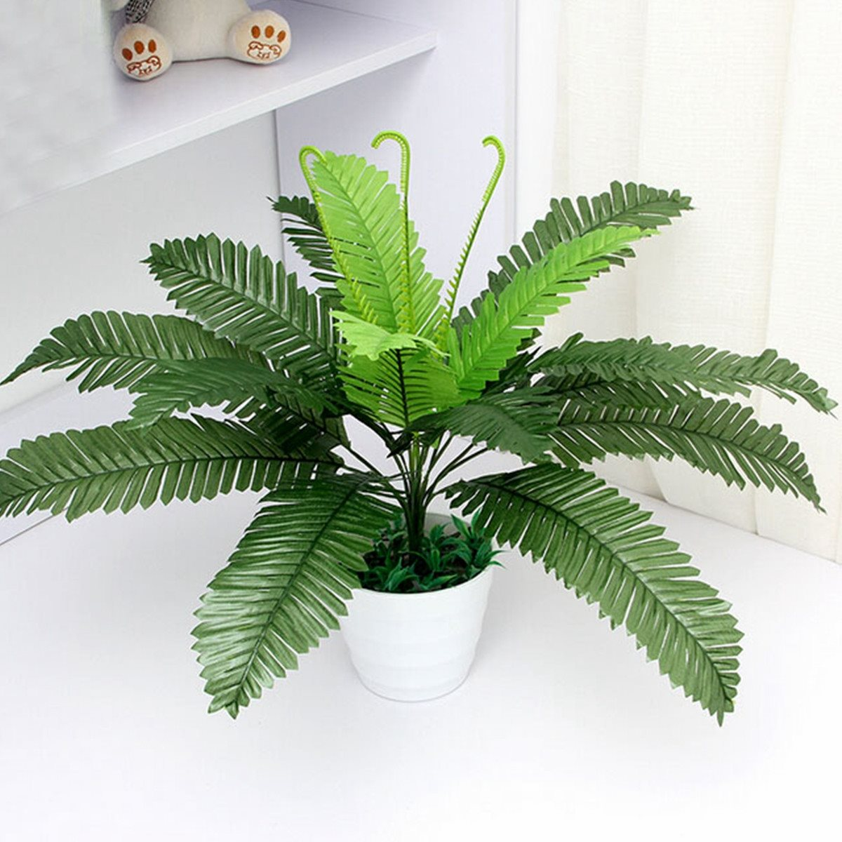 40cm artificial silk foliage green plant simulaton plastic large