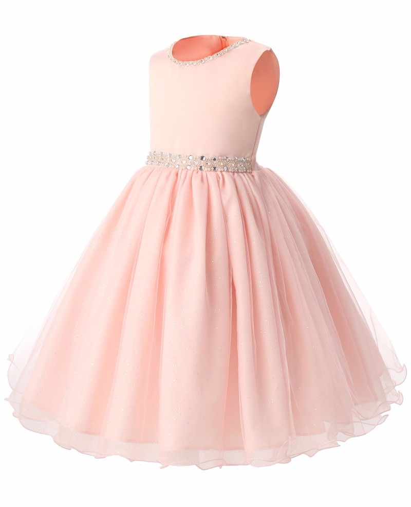 2017 pink princess children clothing girls formal party