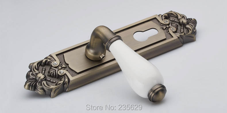 Free Shipping,double bolts mortise lock,European style Exterior&interior handle Door Lock, Antique Brass finished lock for doors free shipping wall mounted brass door stopper suitable for interior doors door holders for sale high suction 356g