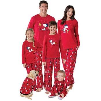 Nuevo Conjunto De Ropa De Navidad Familia Juego De Trajes Rojo Suave