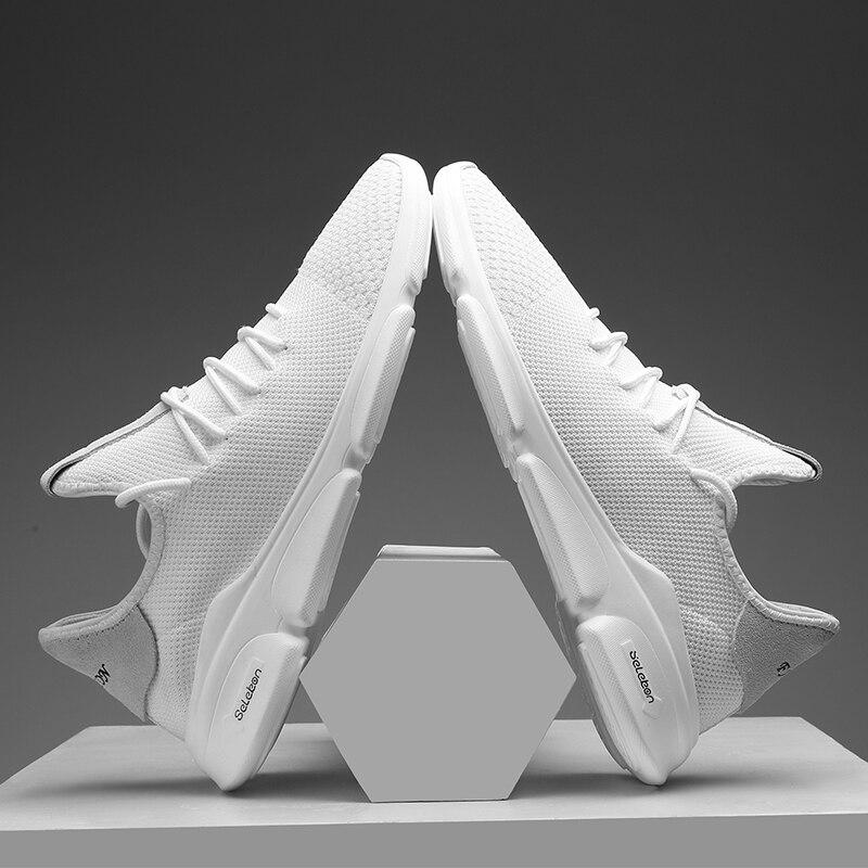 Simple Style Blanc Noir Hommes Chaussures Net Chaussures Hommes 2018 - Chaussures pour hommes - Photo 4