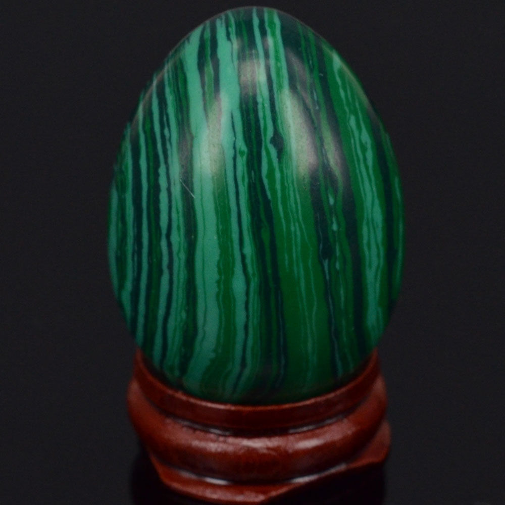 33x48mm Green Taiwan Turquoise Sphere Egg Healing Reiki Crafts Stone - Home Decor