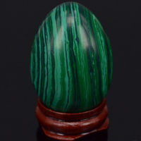 33x48mm Green Taiwan Turquoise Sphere Egg Healing Reiki Crafts Stone Massage Finger Exercise