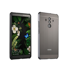 For Huawei Mate 10 Lite Case for Brushed Back Cover Hard with Plating Metal Frame Pro