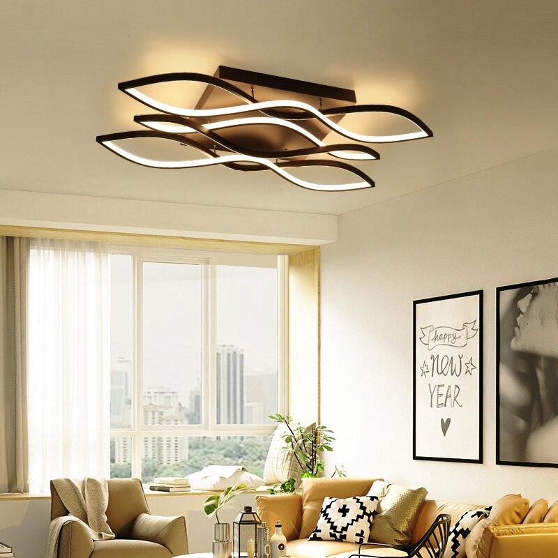 Rectangle Aluminum Modern Led ceiling chandelier for living room bedroom AC85-265V White/Matte Coffee chandeliers Fixtures modern led ceiling chandeliers for living room bedroom square rectangle white black home dec modern led chandelier fixtures