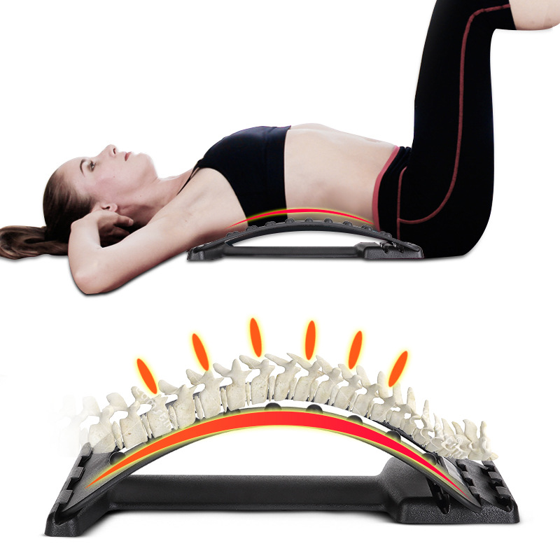 Massage-Equipment Stretcher Spine Chiropractic Back-Massager Lumbar-Support Pain-Relief