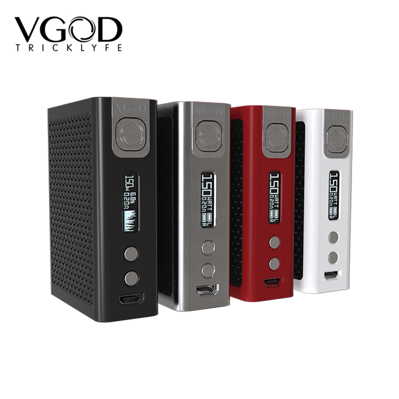 Electronic Cigarettes VGOD Pro 150 Mod PRO150 150w Box Mod sub ohm RDA RDTA Tank carbon fiber plates Vape Mech Mod vivakita cheap vapor cigarettes child lock design vape mod batteries 1500mah fusion 50w vw mod vape mod box kit
