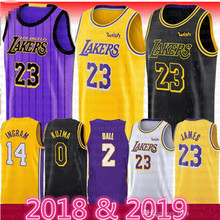 225801dbaaf 2018 2019 New Season Men 23 LeBron James Jersey Los Angeles Lakers 77 Luka  Doncic James