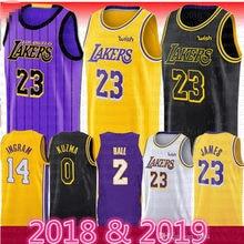86d56bcc183 2018 2019 New Season Men 23 LeBron James Jersey Los Angeles Lakers 77 Luka  Doncic James 2 Ball city Basketball Jersey