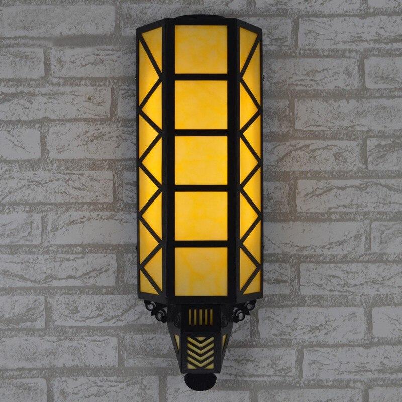 Традиционный китайский стиль настенные светильники led наружного освещения led Бра вилла сад проход водонепроницаемый наружной стены освеще