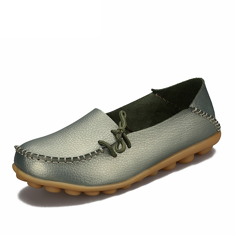 Soft Leisure Flats Women Leather Shoes Moccasins Mother Loafers Casual Female Driving Ballet Footwear 5