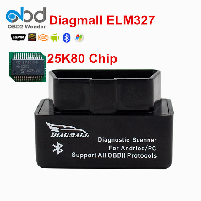 Attractive Diagmall Mini Bluetooth Diagnostic Scanner OBD2 ELM327 Scanner Tool Adapter Check  Engine Light Trouble Code Reader