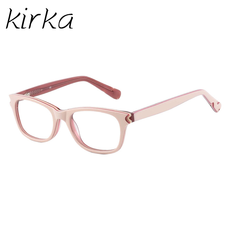 Kirka High Quality Brand Acetate Kids Glasses Frame Square Cute Design Myopia Optical Eyeglass Frames For Girls And Boys