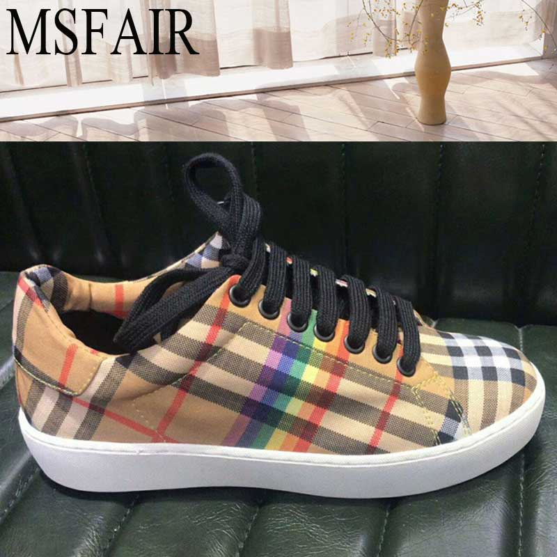 MSFAIR 2018 Women Skateboarding Shoes Woman Brand Sport Shoes For Women Outdoor Athletic Summer Breathable Womens Sneakers