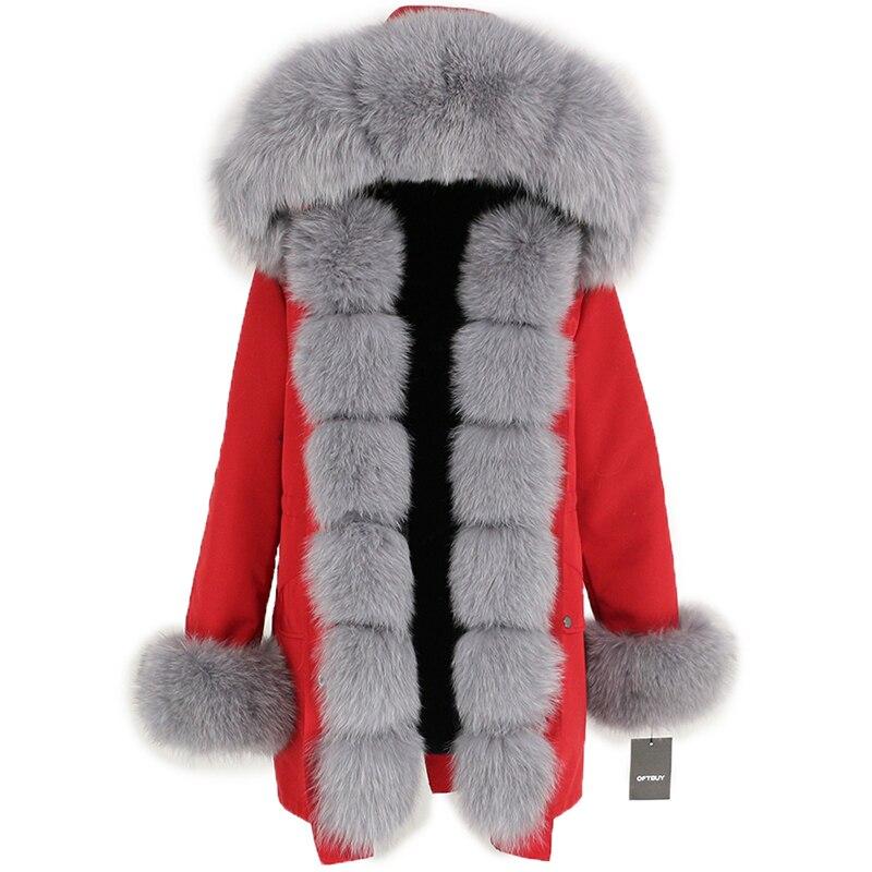OFTBUY Waterproof Long Parka Winter Jacket Women Real Fur Coat Natural Fox Fur Collar Hood Thick Warm Streetwear Detachable New 109