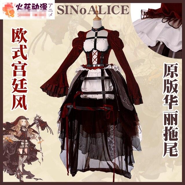 Anime sinoalice Caperucita Roja Cosplay traje altamente reducción monjes  uniforme + vestido + headwear + el 18f9846e1133