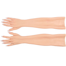 KOOMIHO Crossdressing Female Silicone Gloves Realistic Skin Hand with Nail for Transvestite Cosplay Performance Props Drag Queen