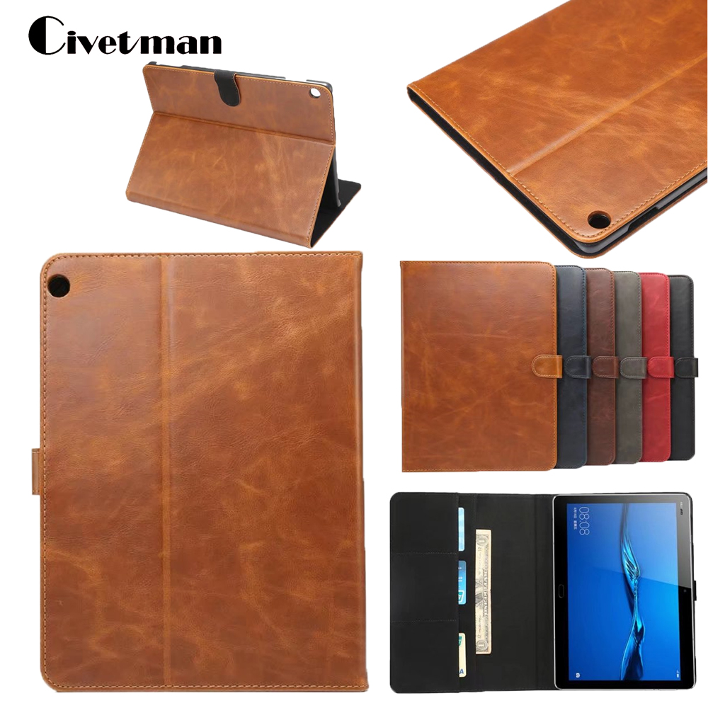 Civetman Luxury Leather Cover Slim Protective Case For Huawei MediaPad M3 Lite 10.1 BAH-W09 BAH-AL00 10.1'' Tablet PC Book Cover crystal protective case for nds lite