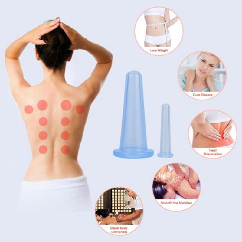 Vacuum Cupping Cups Family Body Massage Helper Anti Cellulite Face Neck Suction Cup Anti Cellulite Silicone