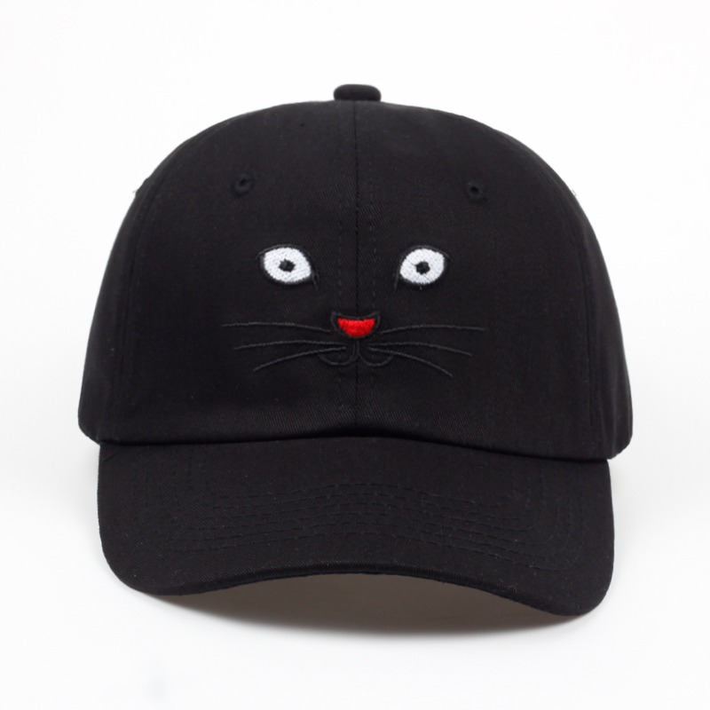 2018 new High Quality Embroidered Cat Dad Hats Hip Hop Snapback Baseball Cap Adjustable Solid Boys Sports Curved Golf Hat Bone feitong summer baseball cap for men women embroidered mesh hats gorras hombre hats casual hip hop caps dad casquette trucker hat
