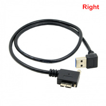 Down Direction Right Angled 90 Degree USB 3.0 A plug to usb 3.0 Micro B Plug Left & Right Angled locking screws Panel Cable 40cm