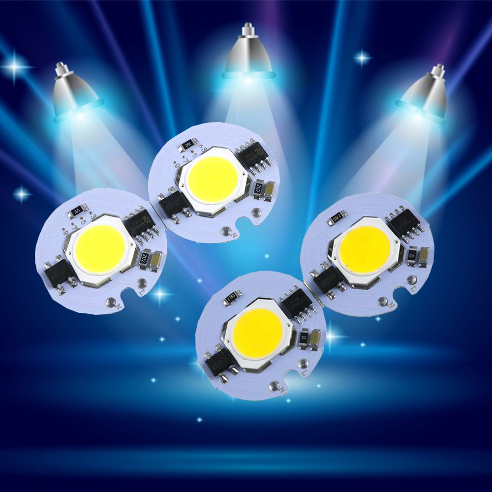 27MM LED Cob Beans Chip AC110V 220V LED Bulb Lamp With Smart IC Driver Bulbs Light 3W 5W 7W 9W Spotlight DIY Outdoor Flood Light smart bulb e27 7w led bulb energy saving lamp color changeable smart bulb led lighting for iphone android home bedroom lighitng