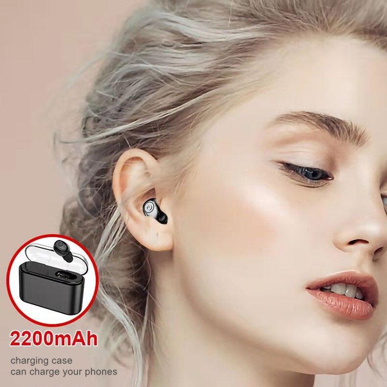 True Wirelss Earbuds Handsfree TWS Noise Cancelling Headphones Bluetooth Earphone Sport Headset With Charging Box in Bluetooth Earphones Headphones from Consumer Electronics