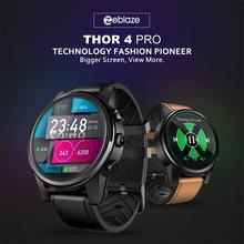 Zeblaze Thor 4 PRO smart Watch z systemem Android 1 GB + 16 GB 600 mah sieci 4G Smartwatch GPS WIFI zegarek smart Sport mężczyzn kobiety PK ALLCALL W2 tanie tanio Passometer Tętna Tracker Kalkulatory Tracker fitness Wiadomość przypomnienie Interaktywne Muzyki Kalendarz Wybierania połączeń