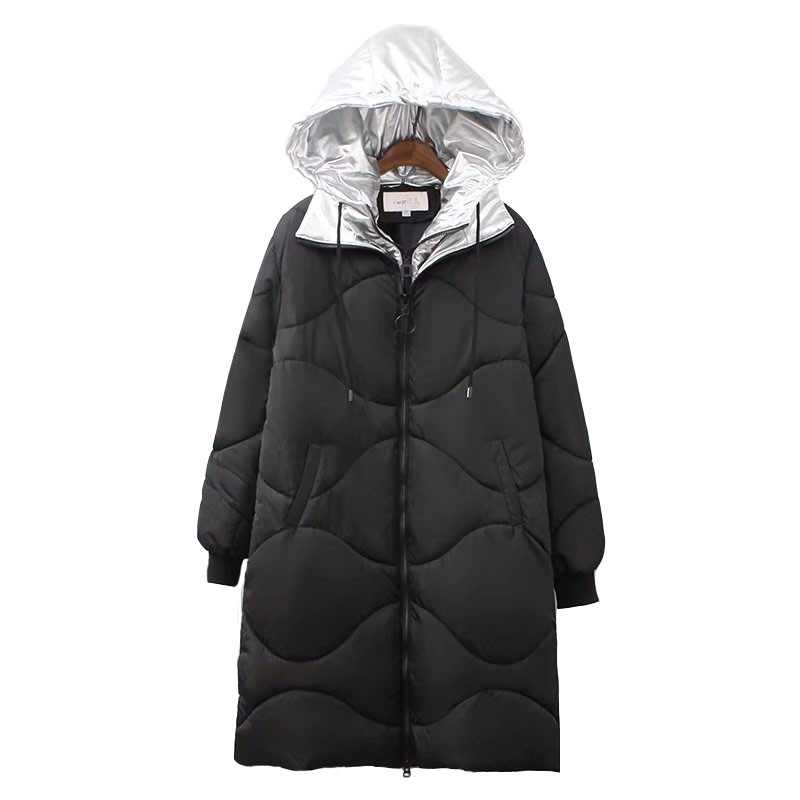 Large size Women   Parkas   2018 New Winter Cotton jacket Thicken Warm Hoodie Top Plus size 5XL Female High quality Cotton Coats1985