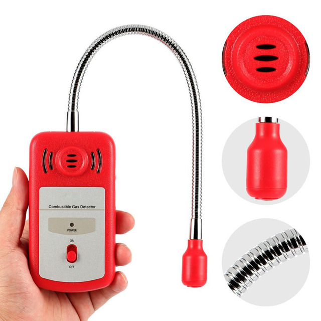 Combustible Gas Detector Portable Gas Leak Tester with Sound-light Alarm Gas Leak Location Determine Tester