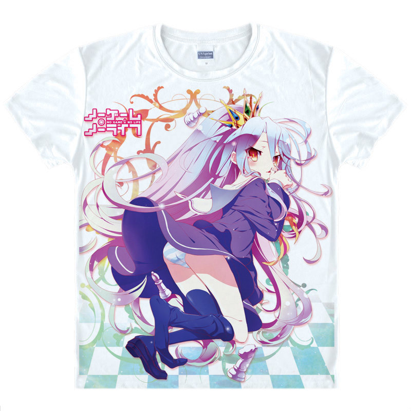 No Game No Life T-Shirt Jibril Shirt Fashion printed t-shirts Anime Collection kawaii dress summer t-shirts Japanese Anime A