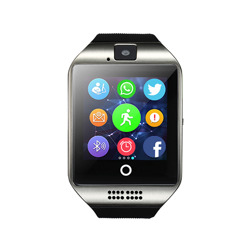 HolidayFree shipping New Q18 Passometer Smart watch with Touch Screen camera TF card Bluetooth smartwatch for Android IOS Phone floveme e8 fashion passometer bluetooth smart watch on wrist for android ios adult reloj intelligent smartwatch sapphire mirror