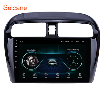 Seicane 9 inch Android 8.1 Car Radio Stereo Video Player For Mitsubishi Mirage 2012 2013 2014-2016 support DVR OBD Bluetooth image