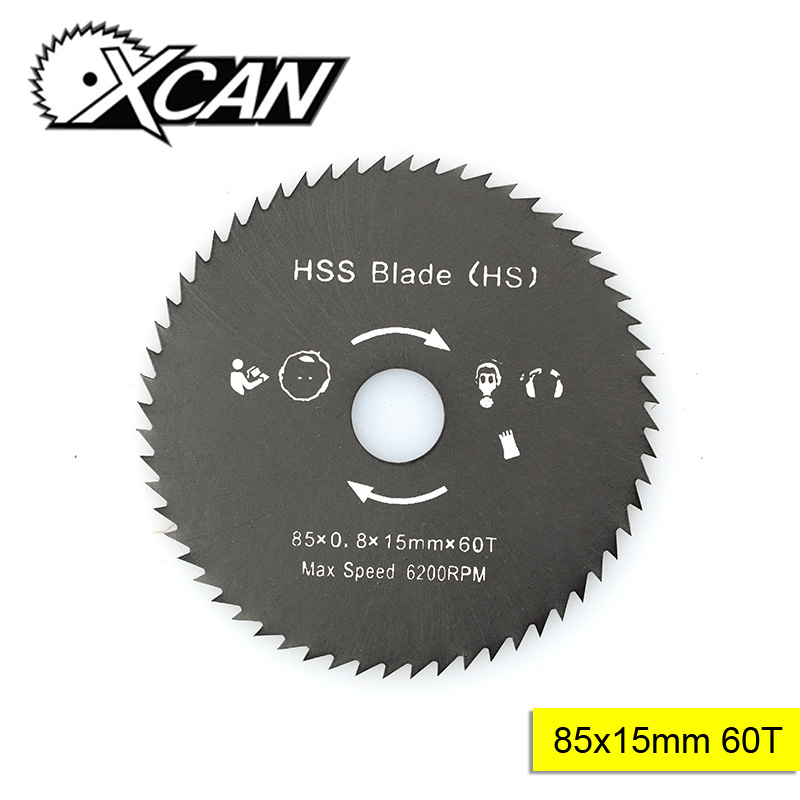 XCAN 1pc Diameter 85mm Bore 15mm 60T Woodworking Circular Saw Blade Nitride Coated HSS Wood Cutting Disc