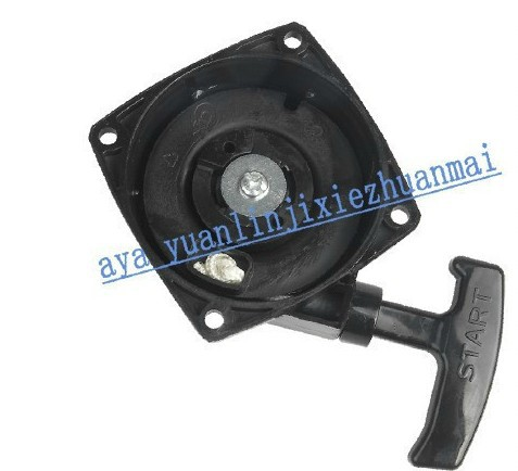 RECOIL STARTER ASSEMBLY  FOR CHINESE 1E40F-3 /Z 40F-3  410 415  FREE SHIPPING CHEAP BRUSH CUTTER PULL START  AFTERMARKET PARTS recoil starter assy d type for chinese168f 170f free shipping cheap generator t pull start pully rewind aftermarket parts