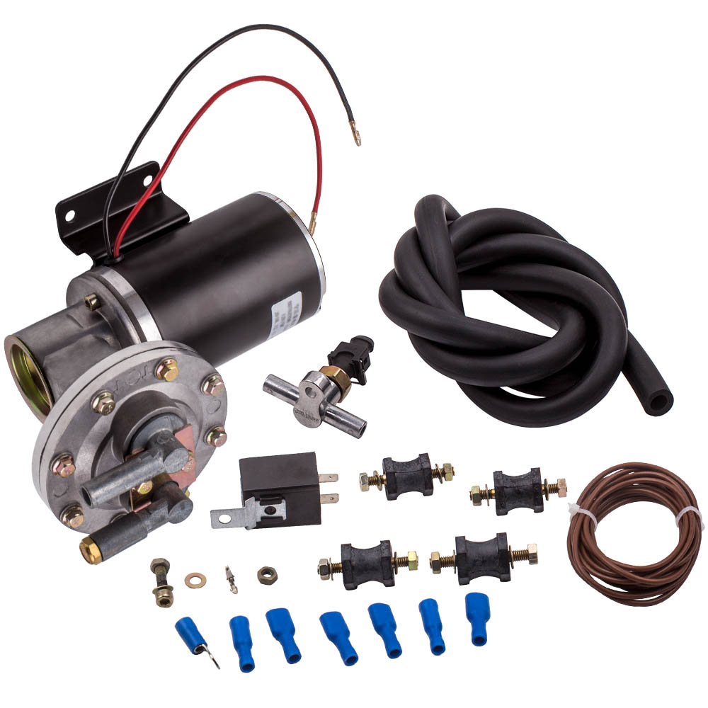 """12 Volt Electrical Power Brake Booster Vacuum Pump w/Pressure Switch 18"""" to 22"""" for GM Chevy Ford