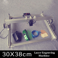 Free ship by DHL 2PCs 300MW toy level DIY laser engraving machine Working Area 30X40cm Laser