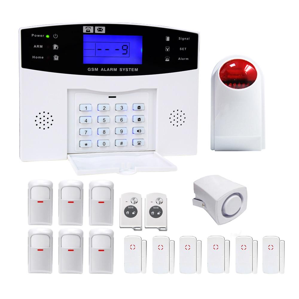 YA-500-GSM-28 maison alarme antivol intelligente sans fil son et lumière infrarouge GSM système d'alarme de sécurité Kit de capteur automatique