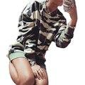 Plus Size Nuevo 2017 Otoño Camuflaje Sudaderas con Capucha del Chándal Para Las Mujeres Suéteres Con Capucha Sudaderas Caliente Femenino de Invierno