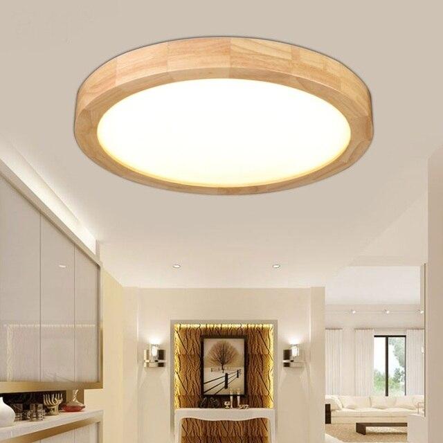 Us 115 0 Norden Runde Massivholz Decke Lampe Japanischen Log Korridor Einfache Originalitat Holz Schlafzimmer Wohnzimmer Decke Lampen Mz73 In Norden