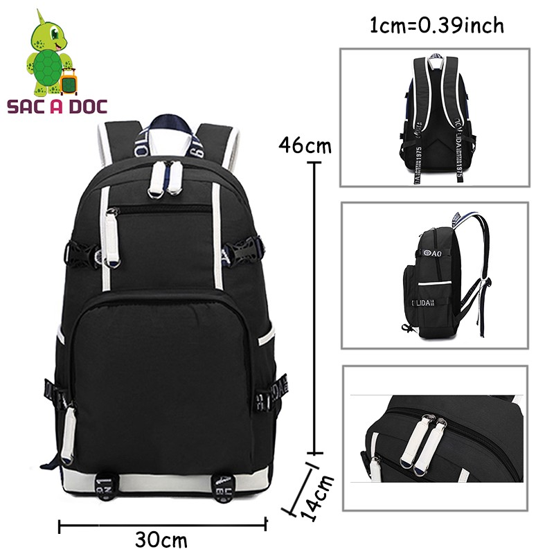 df06fcfbf3e5 Function  School   Laptop Travel bag. Notice  Please allow 1-3 cm  differences due to manual measurement. black backpack is one of the ...