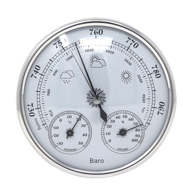 Household Weather Station Barometer Thermometer Hygrometer 3 In 1 Temperature Humidity Meter Pressure Gauge Wall Hanging