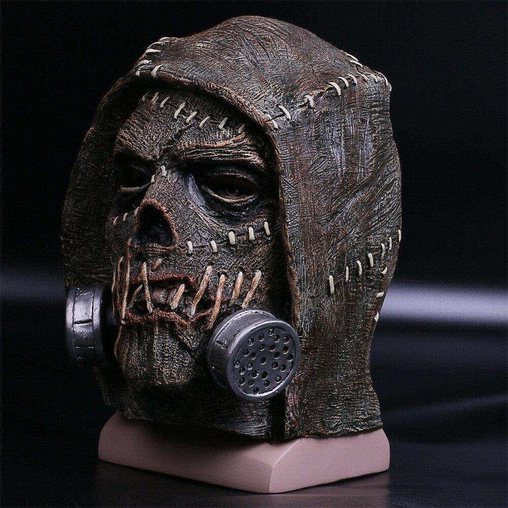Batman Mask Suicide Squad Scarecrows Masks Dr. Jonathan Crane Mask Blocks DC Batman Superhero Mask Halloween Party Prop (12)