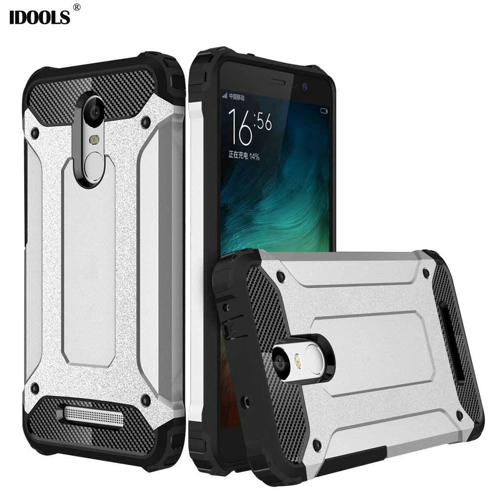 For Xiaomi Redmi Note 3 Case 55 Inch Dirt Resistant Silicon Plastic Hard Back Armor Cover Phone Cases Idools