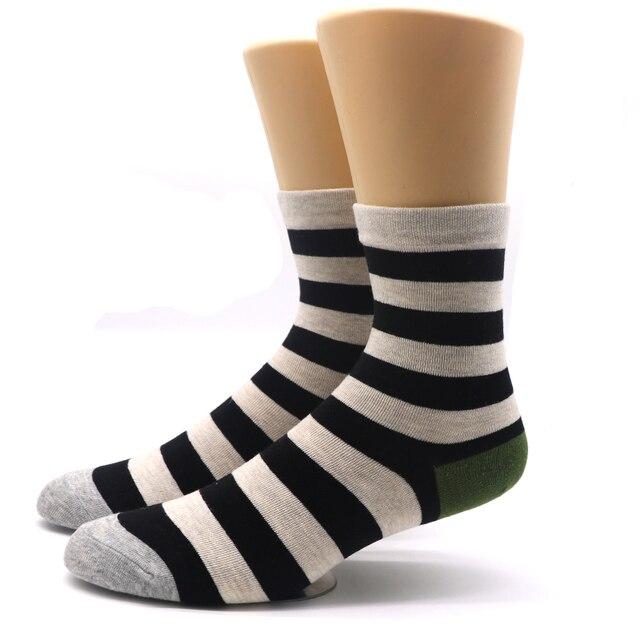 3aecf0cba67e4 1 пара модные Для мужчин длинные полосатые носки для мужские Компрессионные  носки Calcetines носки под одежду