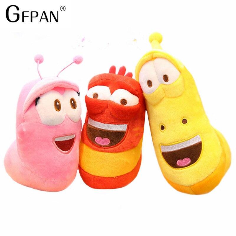 3pcs/lot Korean Anime Fun Insect Slug Creative Larva Plush Toys Cute Stuffed Worm Dolls For Children Birthday Gift Hobbies