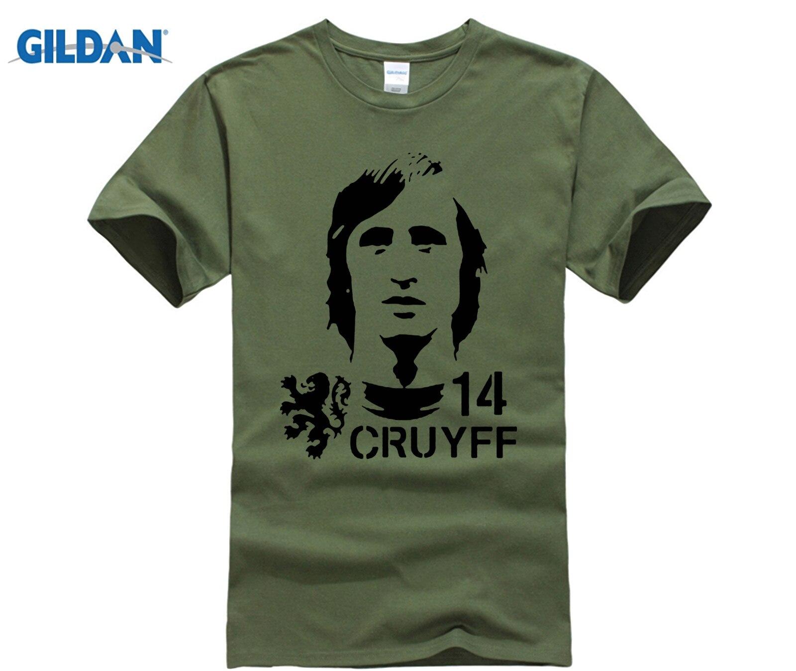 funny men t shirt Hendrik Johannes Cruyff Holland Nederland Ajax  The Godfather 100% cotton t shirt 3