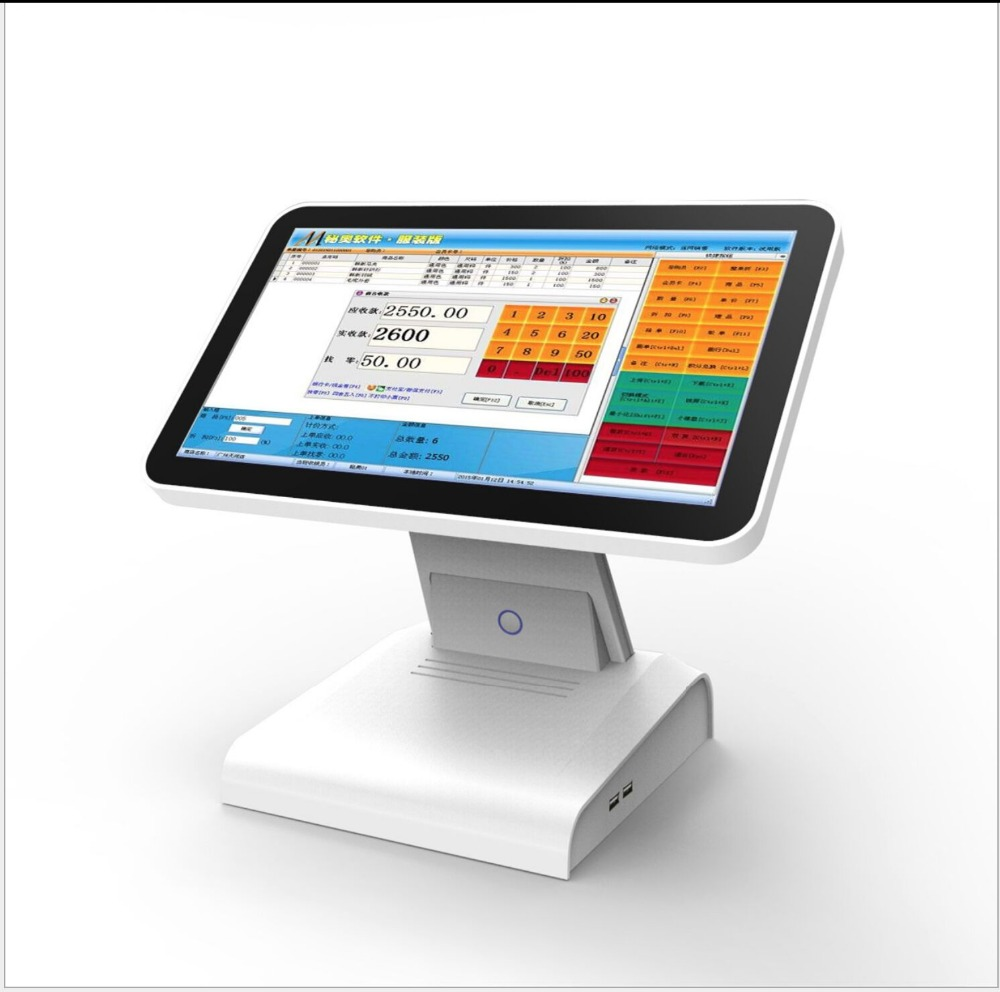 15.6 Inch Android Pos Terminal Dual Screen, Android System Touch Screen AIO