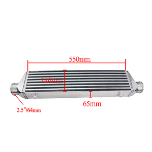 """Image 2 - PQY   Universal Turbo Intercooler Bar & Plate OD 2.5"""" 550*140*65mm Front Mount Intercooler PQY IN811 25"""