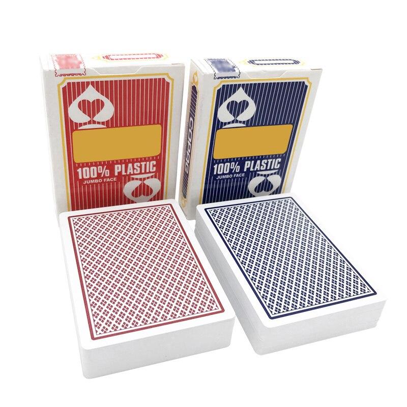2 set/lotes quente texas holdem em baccarat poker plástico jogando cartas geadas estrelas de poker à prova dbig água grande número 63*88mm jogos de tabuleiro